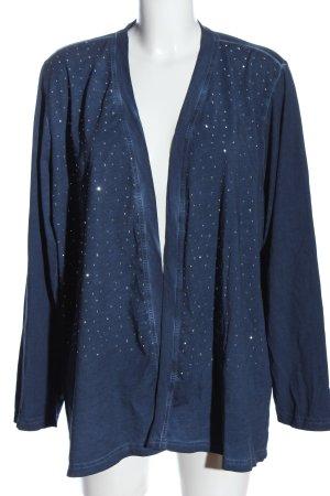 Ulla Popken Chaqueta estilo camisa azul look casual