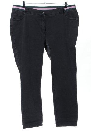 Ulla Popken Slim jeans zwart casual uitstraling