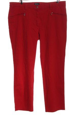 Ulla Popken Pantalone jersey rosso stampa integrale stile casual