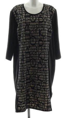 Ulla Popken Vestido elástico negro-blanco puro look casual