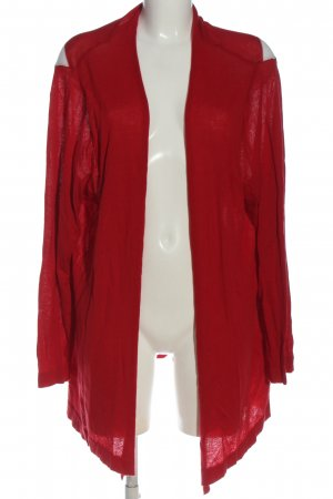 Ulla Popken Strick Cardigan rot Casual-Look
