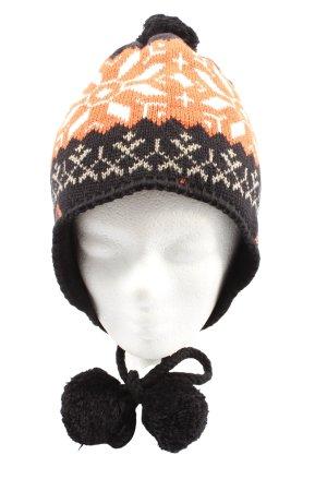 Ulla Popken Chapeau en tricot multicolore style décontracté