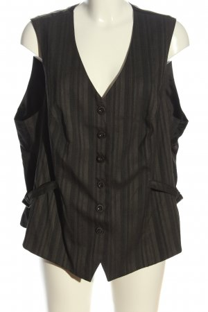 Ulla Popken Waistcoat brown-black striped pattern casual look