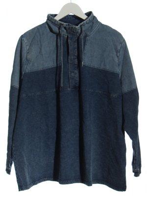 Ulla Popken Sweatshirt bleu style décontracté