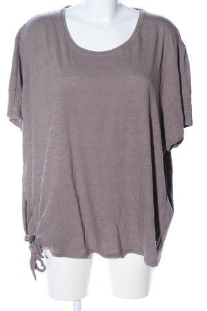 Ulla Popken T-Shirt hellgrau meliert Casual-Look