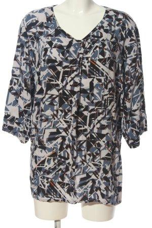 Ulla Popken Boatneck Shirt graphic pattern casual look