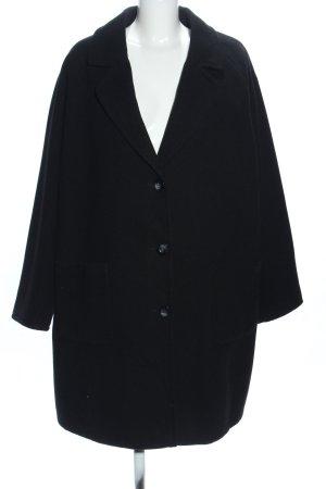 Ulla Popken Winterjas zwart zakelijke stijl