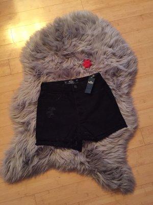 Hollister Pantalón corto de talle alto negro
