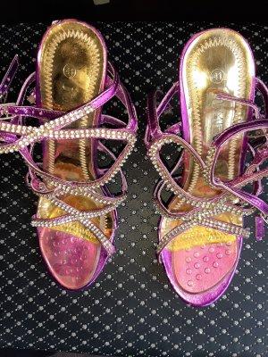 Ultra Shine Sexy Heels in Metallic Purple