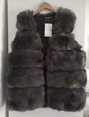 Glo - Story Fake Fur Vest anthracite