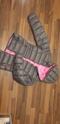 CMP Down Jacket grey-neon pink