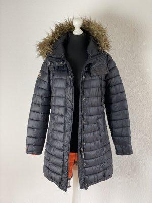 Superdry Gewatteerde jas zwart-oranje