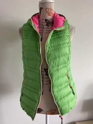 CMP Down Vest neon green-pink