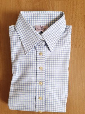 Umani Camicia blusa bianco-blu acciaio