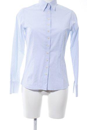Umani Hemd-Bluse weiß-blau Streifenmuster Business-Look