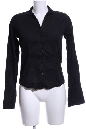 Umani Camicia blusa nero stile casual
