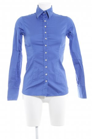 Umani Camicia blusa blu acciaio elegante