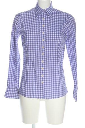 Umani Camicia da boscaiolo bianco-lilla motivo a quadri stile casual
