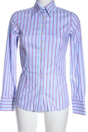 Umani Camicia a maniche lunghe blu-rosa stampa integrale stile casual