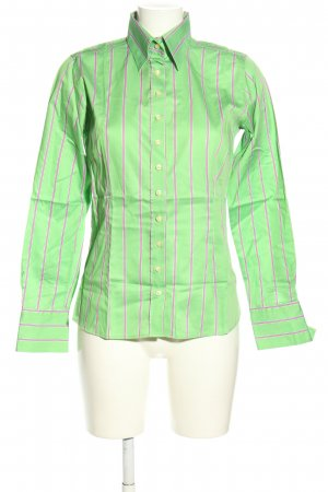 Umani Langarmhemd grün-pink Streifenmuster Casual-Look