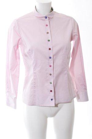 Umani Langarmhemd pink Casual-Look