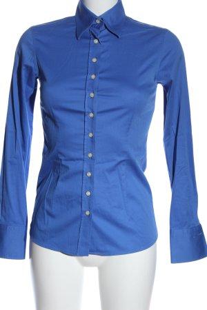 Umani Camicia a maniche lunghe blu stile professionale