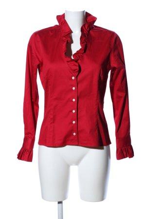 Umani Camicetta con arricciature rosso stile casual