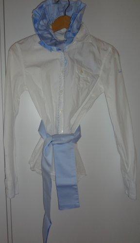 Umani Rüschenkragen und Schärpe hellblau *neu*