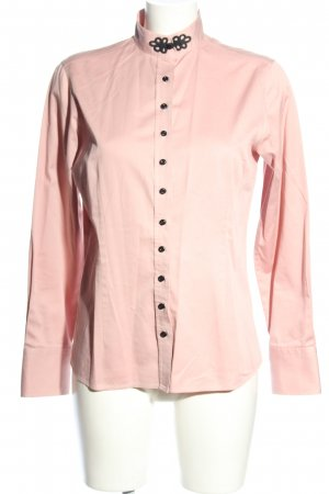 Umani Stand-Up Collar Blouse pink casual look