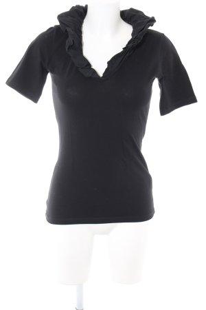 Umani T-Shirt schwarz Casual-Look