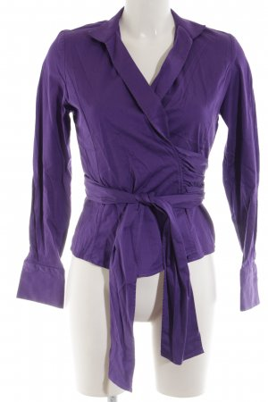 Umani Wickel-Bluse lila extravaganter Stil