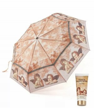 Paraguas plegable marrón claro