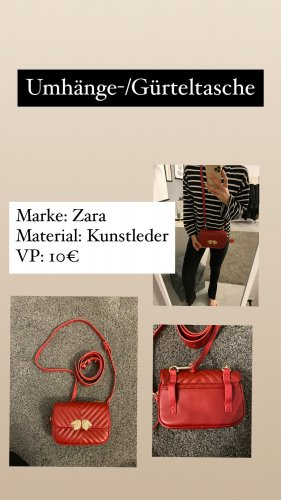 Zara Accesoires Heuptasjes rood-nude Gemengd weefsel