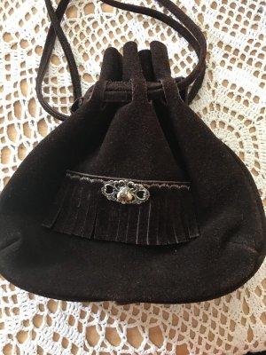 Tradycyjna torebka czarno-brązowy