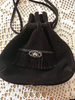 Bolso folclórico marrón-negro