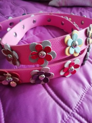 Faux Leather Belt pink polypropylene
