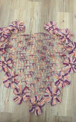 keine Szydełkowany szalik ciemny fiolet Tkanina z mieszanych włókien