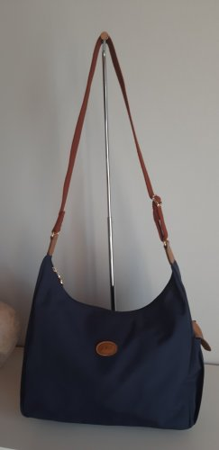 Longchamp Sac hobo bleu foncé synthétique