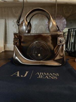 Armani Jeans Mini sac argenté-gris