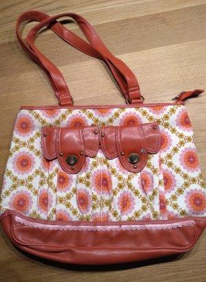 Umhängetasche Blumen rosa Handtasche