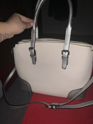 Crossbody bag natural white-silver-colored