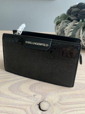 Karl Lagerfeld Gekruiste tas zwart-zilver