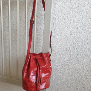 Pouch Bag red polyester