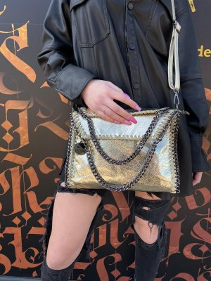 Umhängetasche / Handtasche Gold NEU