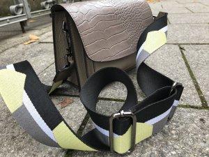 Umhängetasche Handtasche Schultertasche Ledertasche asphalt grau neu TOP