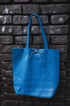Borse in Pelle Italy Handbag neon blue leather