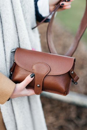Umhängetasche Handtasche Schultertasche Ledertasche braun Vintage Look neu TOP