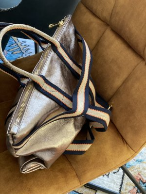 Umhängetasche Handtasche Schultertasche Ledertasche bronze neu TOP