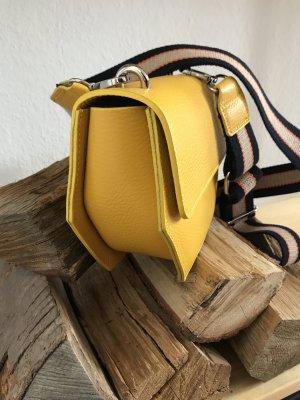 Borse in Pelle Italy Crossbody bag dark yellow leather