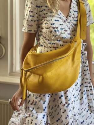 Borse in Pelle Italy Crossbody bag yellow leather